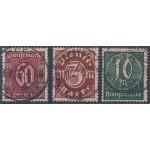 Tyska Riket D66-68 stämplade