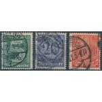 Tyska Riket D16, D19 och D22 stämplade