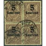 Tyska Riket D89 stämplat 4-block