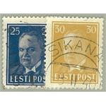 Estland 135-136 stämplade