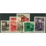 Sovjet 1280-1283 + 1285 stämplade