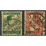 Schweiz 128-129 stämplade
