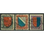 Schweiz 153-155 stämplade