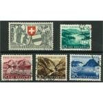 Schweiz 570-574 stämplade