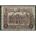 Belgien Postpaketmärke 6 stämplat
