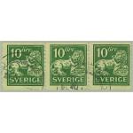 Sverige 144Acxz stämplat 3-strip