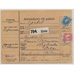 Sverige 66 på adresskort 1911