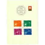 Schweiz 566-569 stämplade på kort