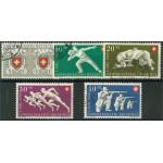 Schweiz 545-549 stämplade