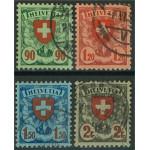 Schweiz 194-197x stämplade