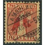 Schweiz 135 stämplat