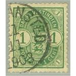 Danska Västindien 19 stämplat