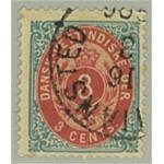 Danska Västindien 6g stämplat