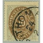 Danska Västindien 10e stämplat
