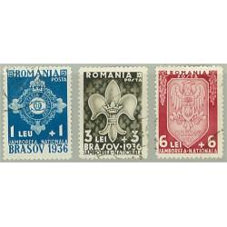Rumänien 516-518 stämplade