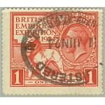 Storbritannien 166A stämplat
