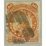 Bolivia 25 stämplat