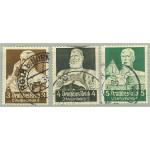Tyska Riket 556-558 stämplade