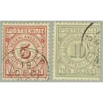 Nederländerna postanvisningsmärke 6-7 stämplade
