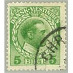 Danska Västindien 49 stämplad