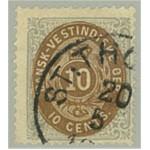 Danska Västindien 10e stämplad