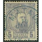 Belgiska Kongo 10 stämplad
