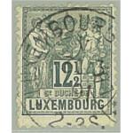 Luxemburg 50C stämplad