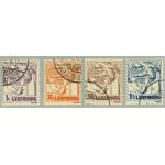 Luxemburg 157-160 stämplade