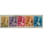 Luxemburg 252-256 stämplade