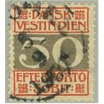 Danska Västindien L8 stämplad
