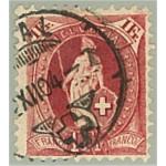 Schweiz 70D stämplad
