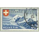 Schweiz 343 stämplad