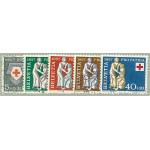 Schweiz 641-645 stämplade
