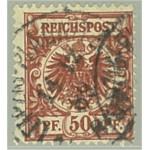 Tyska Riket 50a stämplad