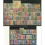 Estland 109 olika stämplade frimärken