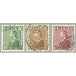 Island 218-220 stämplade