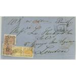 Sverige 10d1 + 11b till Storbritannien 1861