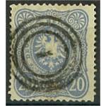 Tyska Riket 42b med dansk stämpel