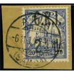 Samoa Brittisk besättning 4 stämplad