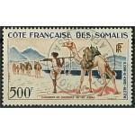 Franska Somaliakusten 334 stämplad