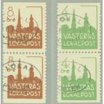 Västerås lokalpost 1-2 BB stämplade