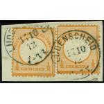 Tyska Riket 2x 18 på brevklipp