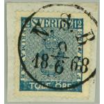 Sverige 9c3 N.S.B. 9.6.1868