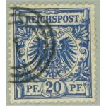 Tyska Riket 48 med dansk stämpel
