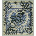 Tysk Post i Kina 4 II stämplad
