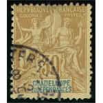 Guadeloupe 35 stämplad