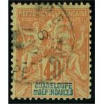 Guadeloupe 36 stämplad