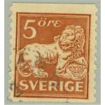 Sverige 141bz stämplad