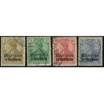Tysk post i Marocko 7-10 stämplade