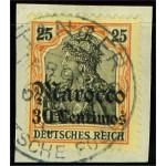 Tysk post i Marocko 38 stämplad